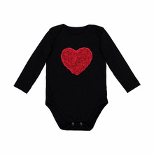 Baby Girl Romper Long Sleeve Black 4 Sizes Cartoon Newborn Baby Girl Jumpsuit Body Suit Clothes For NB-24M(China)