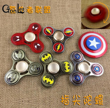 GonLeI Marvel Avengers Super Heroes Tri-Spinner Fidget Toy Metal EDC Fidgets Hand Spinner Autism And ADHD Increase Focus Toy