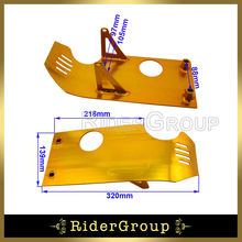 Gold Aluminum Engine Skid Plate For 50cc 70cc 90cc 110cc 125cc 140cc Chinese Pit Dirt Bike YX Lifan Coolster Taotao SDG(China)