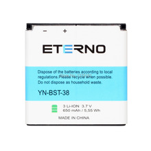 ETERNO BST-38 Replacement Battery For Sony Ericsson W995 C510 C902 C905 K770I K850 W580I R306 R306C S500i Xperia X10 Mini 650mAh