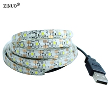 ZINUO 50CM 1M 2M USB LED Strip Light RGB 3528 SMD DC5V IP65 Waterproof  LED Tape With USB For Car Computer Tent TV Back Lighting