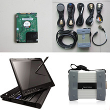 Newest MB Star C3 Multiplexer with 7 Cables Multi-Language mb c3 star diagnosis Tool with Software HDD and X200t Laptop