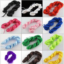 2015 hot sell 25m Nylon Cord Thread Chinese Knot Macrame Rattail Bracelet Accessory jewelry accessory 567F