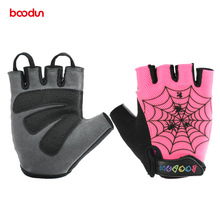 Boodun Cycling Gloves Half Finger Shockproof Breathable Outdoor MTB Road Bike Bicycle Gloves Sport Gloves For Children Kids Boys