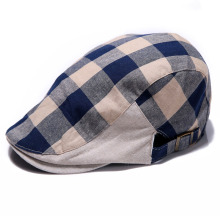 Hot Casual Winter Autumn Warm New Men Women Checked Duckbill Cap Golf Driving Flat Cabbie Newsboy Beret Hat Visors Free Shipping