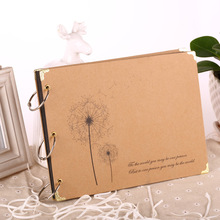 New Creative DIY 10 Inch Paper Photo Albums Manual Family Album Newborn Gifts Baby Lovers Memory Picture Albums Free Ship(China)