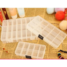 House tools storage box 10/15/24 Grids Compartments Jewellery Bead Earrings Rings Storage Case Organiser