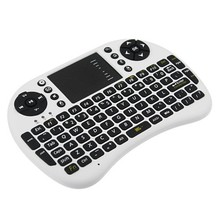 Air Mouse 92 Key Mini Portable 2.4GHz QWERTY Keyboard Mouse Touchpad Remote Game Controller Wireless Keyboards AAA battery(China)