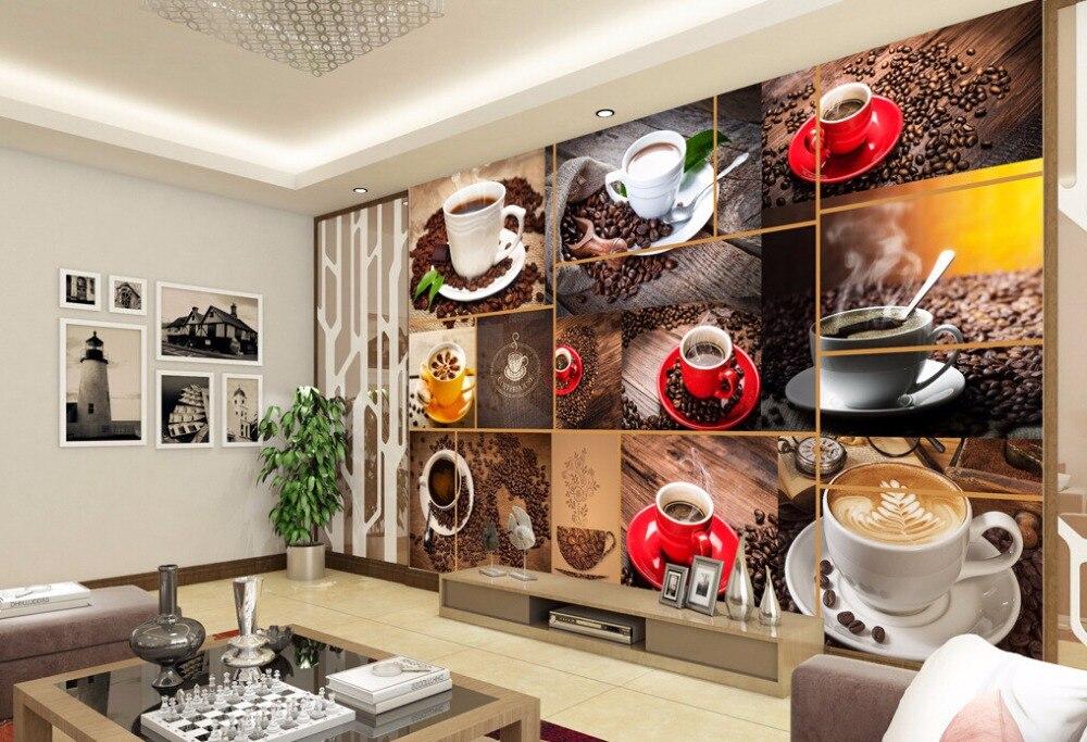 Custom retro wallpaper,coffee,3D modern murals for the cafe restaurant hotel background wall PVC wallpaper<br>