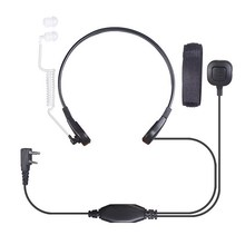 Best price 2Pin PTT Throat Mic Covert Acoustic Tube Earpiece Headset For Baofeng UV-5R Black FW1S