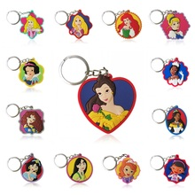 40PCS Anime Pretty Girls Cartoon PVC Keychain Keyrings Kids Gift Party Favors Charm Key Covers Bag Straps Accessories Jewelry