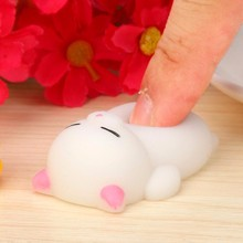 Toy Decompression Pinched TPR Dolls Cat Mochi Squishy Cat Squeeze Healing Fun Kids Kawaii Toy Stress Reliever Decor