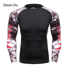 Buy Men Compression Shirts MMA Rashguard Keep Fit Fitness Long Sleeves Base Layer Skin Tight Weight Lifting Elastic T Shirts Homme for $6.16 in AliExpress store