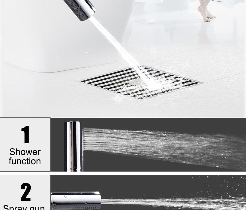 hm With Switch Hand Shower Head Brass Pressure Rain&Pulse Spray Gun Super Supercharged Bathroom Detachable Washable Shower Head (3)