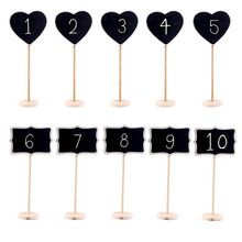 10pcs Mickey Shape Mini Blackboard Stick Stand Place Holder Chalkboard Table Number Mickey Mouse Board Party/event Decor(China)