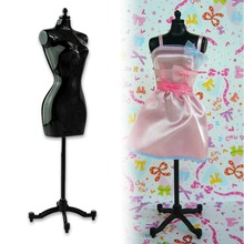Cheap+Free shipping New 1pc Clothes Gown Display Mannequin Model Stand for Barbie Doll Holder Dress Form ESA380(China)