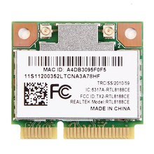 RealTek RTL8188CE Laptop PCI Express wifi card Wireless Wlan WiFi Adapter for Acer ASUS Dell Half Mini PCI-e network