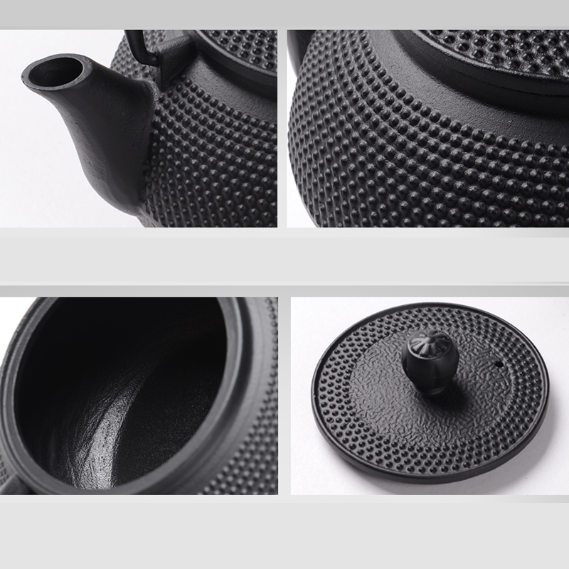 Southern Cast iron kettle old iron pot shells tea pots health boiler scale iron pot 800ml 4