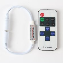 Mini RF Wireless Remote Led Dimmer Controller For Single Color Light Strip LED Controler