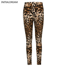 Multiple Leopard Leggings Print Fashion Skinny Pants Womens Leggins 2017 Elastic Calca Legging Feminina Workout Sale HDDK0011(China)