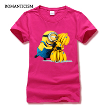 Romanticism fit slim fruits print t shirt women fashion summer minions women t-shirts brand clothes tops tees