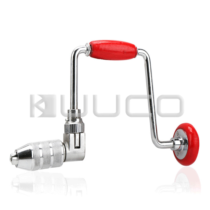 Rotary Hand Drill/Drill Hole Tool/Reversible Ratchet Tool with 2-Jaw Chuck for Wood/PVC/acrylic/plastic/glass fiber/PCB etc<br>