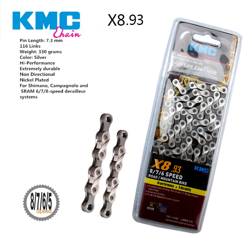 KMC X11EL 11 Speed 11S Road MTB Bike Chains for Shimano Campy Sram 114L Silver