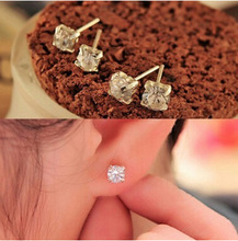 ej033   2017 New fashion exquisite Korean crystal earrings female star Lulu jewelry earrings wholesale