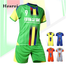 New Professional Men Soccer Jerseys 2016 2017 Football Jerseys Kids Maillot de Foot Soccer Training Jersey Set Uniform