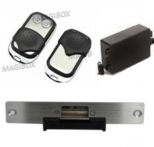 315Mhz Fail secure Remote Control Electric strikes Remote electric Lock + 2 remote handle(China)