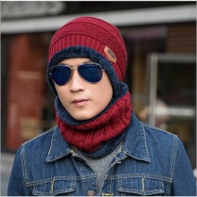 South Korean hipster knitwear and knitted sweater hat and scarf set for winter(China)