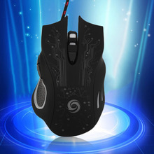 Ultra-precise Scroll Wheel Special Feel Good 5500DPI Optical Colorful LED flashing Wired Game Gaming Mice Mouse for Laptop PC(China)
