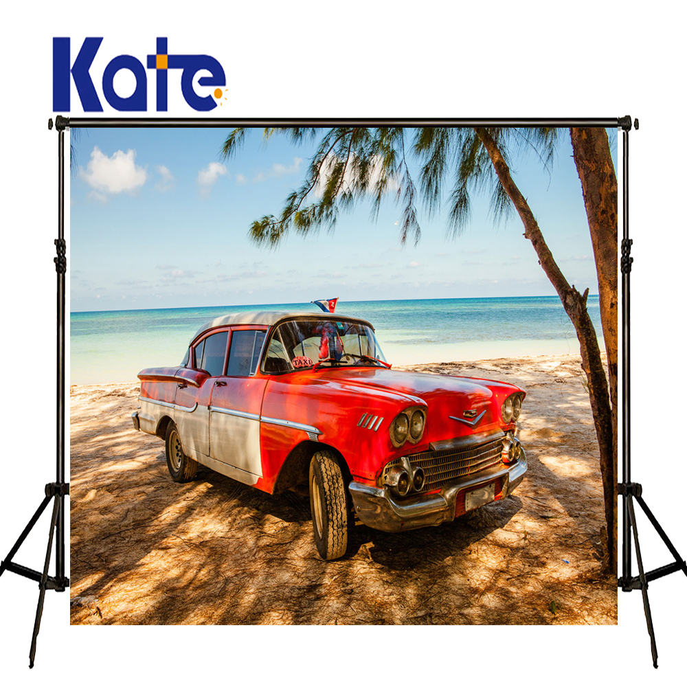 KATE Photo Background Cars Backdrop Beach Themed Sea Backdrop Newborn Photography Background Summer Background for Photo Studio<br>
