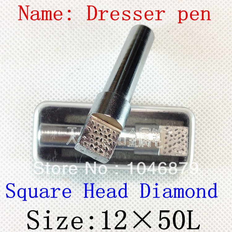 12mm Dia 50mm Length Grinding Wheel Diamond Dressing Pen Dresser Tool,Head for the natural diamond<br><br>Aliexpress