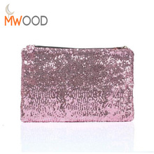 Shining Sequined Women Envelope Bag Bolsa Dazzling Sequins Evening Bag Fashion Day Clutch Purse Party Dress High Quality Handbag(China)