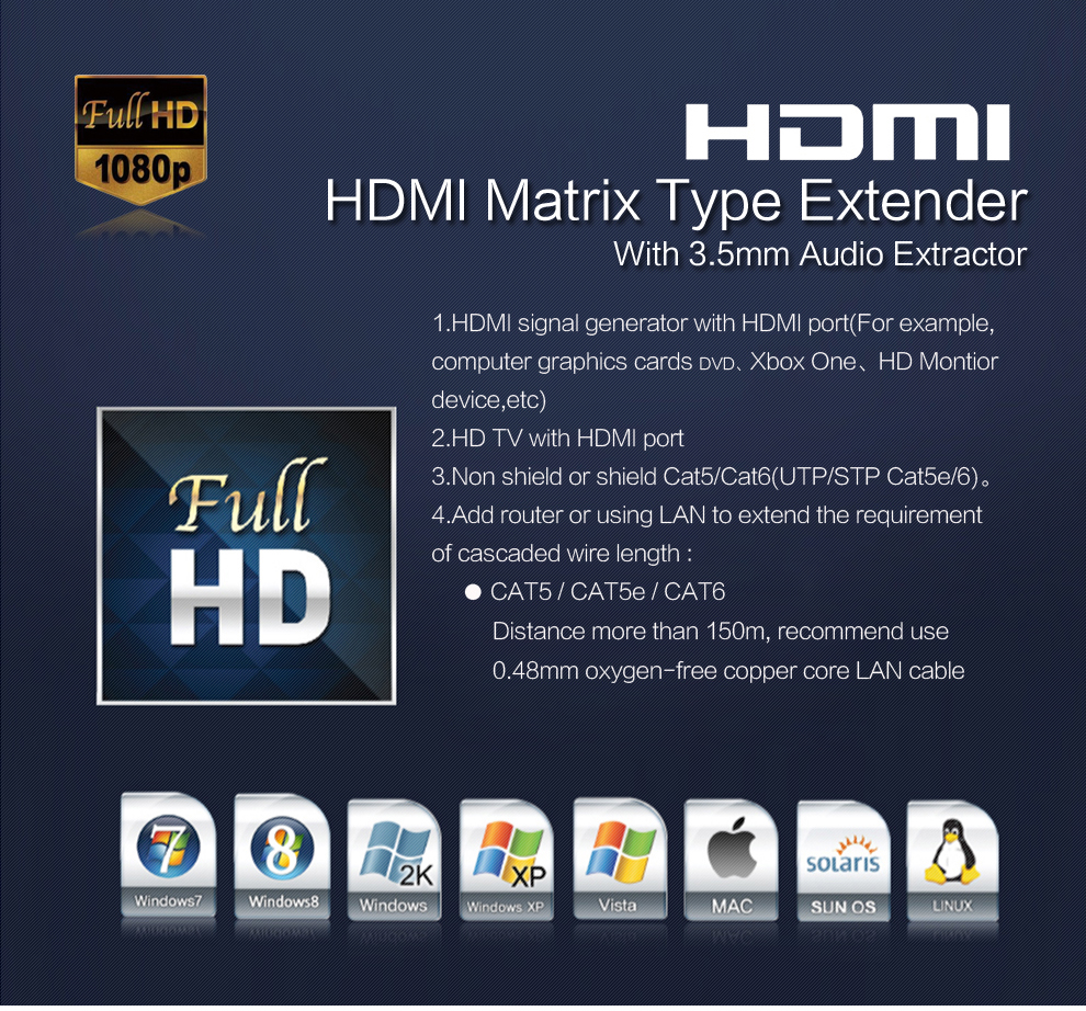 HSV891IR HDMI IR Ethernet Extender 120150m By UTPSTP CAT5e6 Rj45 Cable 1080P HDMI LAN Extender Over TCP IP Like HDMI Splitter (8)