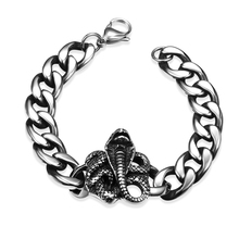 New high-quality jewelry, 925 silver bracelet, ancient Maya European and American classic ferocious python models men H013
