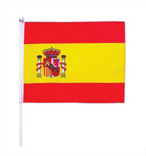 10pcs/lot 14 * 21 cm Spanish flag waving small flags waving flags hands free shipping