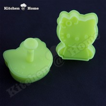 Lovely Hello Kittie Cookies Biscuits Cutters One Press Cutting Molds BPA free Material Baking Tools 2 Pcs/set KK071