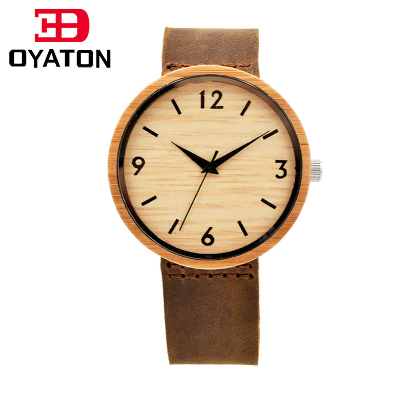 Wooden Watch With Full Genuine Leather Quartz Watch Men Top Brand Luxury Wood Watch Clock Wristwatch Gift For Male<br><br>Aliexpress