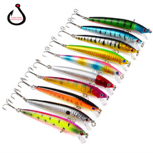 1pcs Great Discount Retail fishing lures,assorted colors quality Minnow 110mm 14g,Tungsten ball bearking 2017 model crank bait(China)