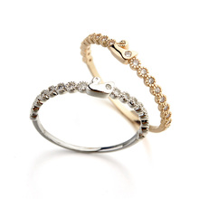 New Style Little Swan Joint Small Ring Silver/Rose Gold Color AAA Fashion CZ Crystal Ring For Women/Girls  (R115545)