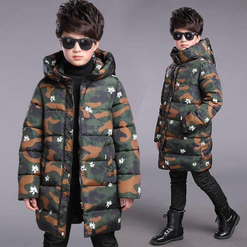 Boys winter jacket parka kids camo coats jacket boys teenage boys coats children kids jacket hooded kids clothes