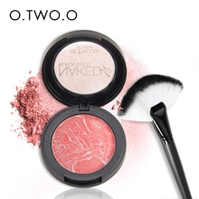 O.TWO.O New Baked Blusher Makeup Baking Blush Brush Palette Highlighter Shading Powder Get a Brush