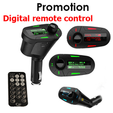 1 PCS Car MP3 player digital remote control wireless FM transmitter Mucsic Player The audio USB And Free Shipping