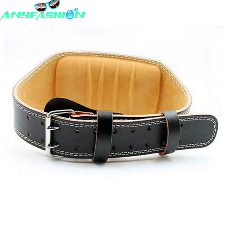 Leather Weightlifting Belt Men Bodybuilding lumbar Protection fitness Training Squats Back Trainers Gym belt<br><br>Aliexpress