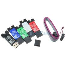 5PCS/lot Mini USB ISP USBASP USBisp Programmer Aluminum for 51 ATMEL AVR WIN7 64