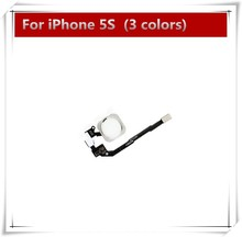 10pcs/lot New Home Button Flex Ribbon Cable Assembly For iPhone 5S black /white /gold Replacement part