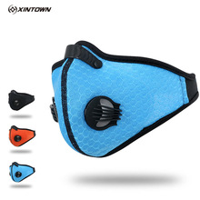 XINTOWN 2017 Summer Breathable Mesh Bicycle Bicycle Mask Dust Smog PM2.5 Virus Protective Carbon Filter Cycling Half Face Mask(China)