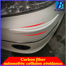 Car Styling moulding Carbon Fiber car stickers Car Bumper Protector Guards Car Door Crash Bar Bumper Protector 2 PCS Per Set